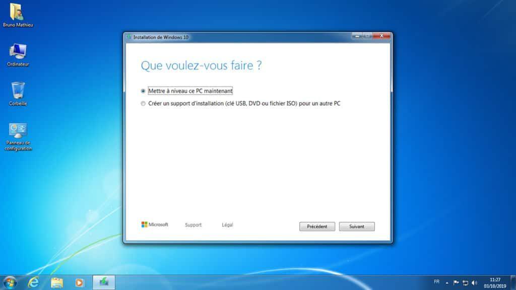 تحويل Windows 7 إلى Windows 10