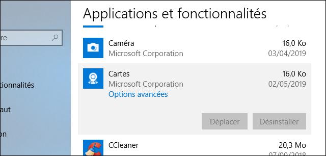 إزالة التطبيقات على ويندوز 10