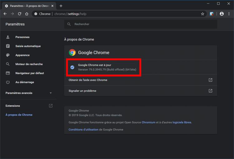 Google Chrome presse-papier