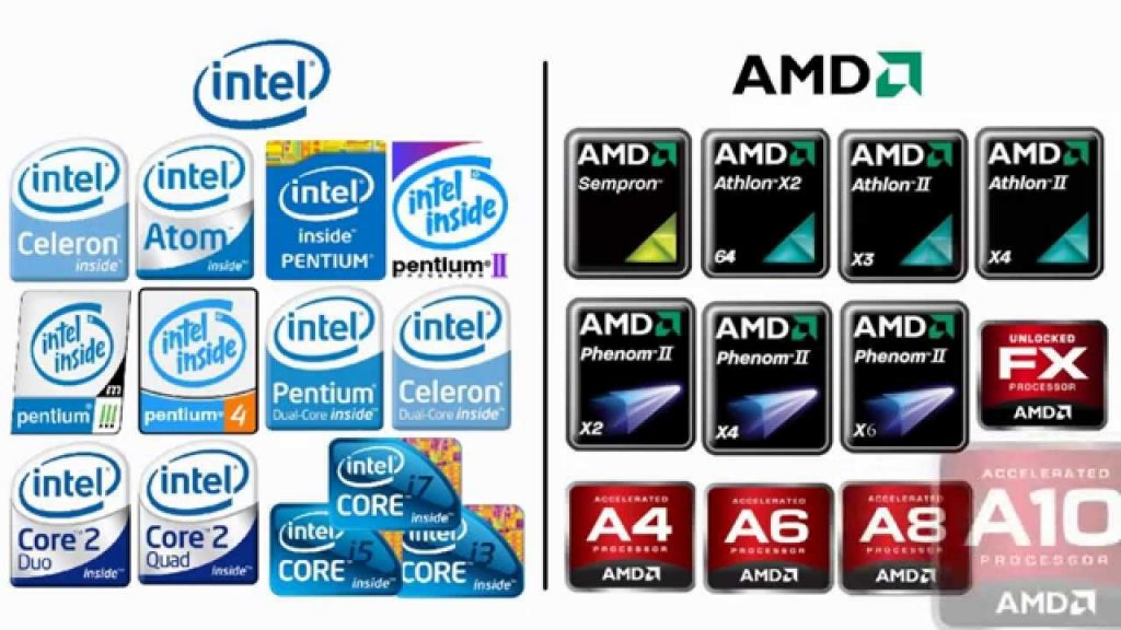 معالج Intel أو معالج AMD